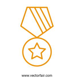 medal award victory isolated icon