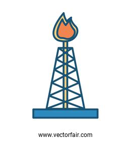 tower refinery plant isolated icon