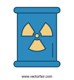 nuclear barrel metalic isolated icon