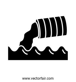 metal marrel polluting the water icon