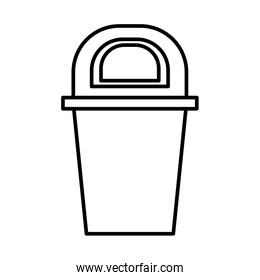 waste bin recycle isolated icon