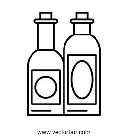 wine bottles drink isolated icon