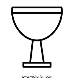 chalice cup religious line style