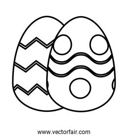 pair easter eggs painted icon