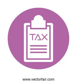 tax obligation in clipboard icon