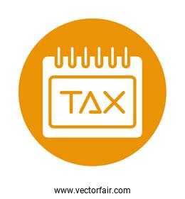 calendar with tax obligation icon
