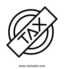 tax obligation seal stamp icon