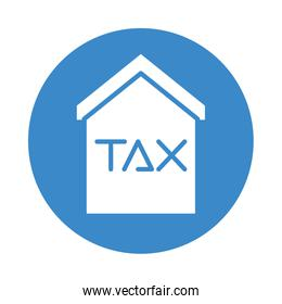 house with tax obligation icon