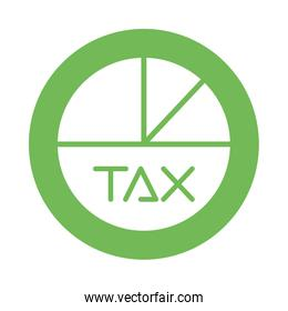 tax obligation statistics pie icon