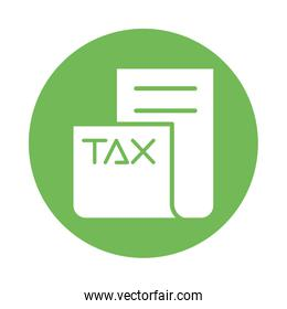 tax obligation document isolated icon