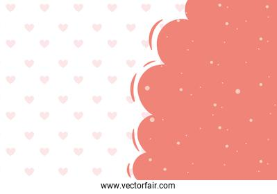 happy valentines day hearts love cloud decoration