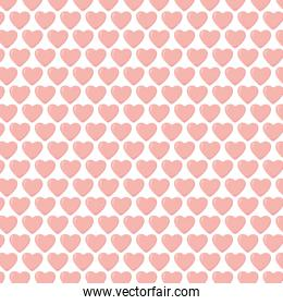 happy valentines day pink hearts decoration love background