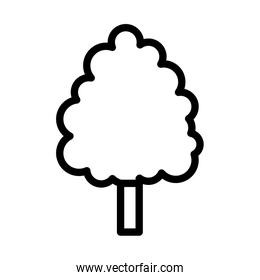 tree forest botanical icon on white background thick line