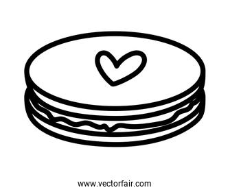 happy valentines day sweet chocolate cookie love heart thick line