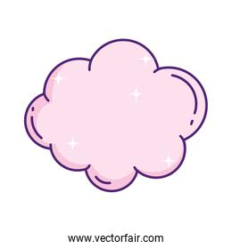 cute pink cloud decoration sky icon