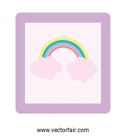 cute frame rainbow picture decoration