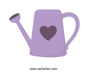 happy valentines day, watering can heart love