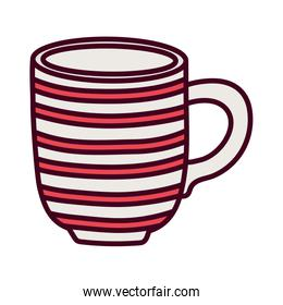 red striped coffee cup ceramic icon