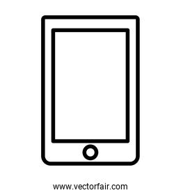 smartphone device technology cartoon icon thick line