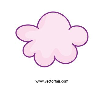 pink cloud weather icon design on white background
