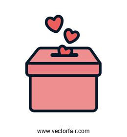 falling hearts in the box charity and donation