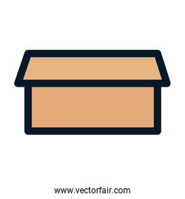 opening cardboard box storage delivery icon