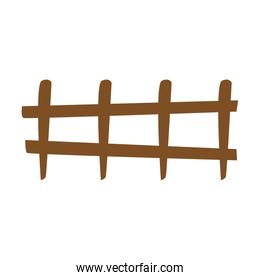 wooden fence protection barrier cartoon