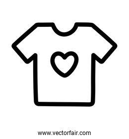 shirt with heart print charity and donation