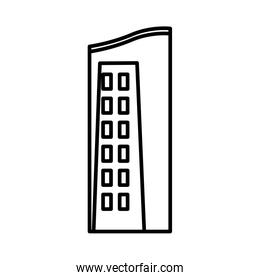 urban building tower structure icon thick line