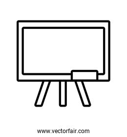back to school education chalkboard equipment class over white
