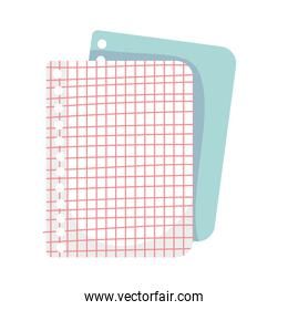 back to school education grid papers sheet supplies
