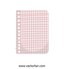 back to school education grid paper sheet holes