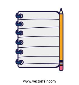back to school education pencil on book supplies stationery