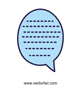 blue speech bubble pointed lines icon cartoon