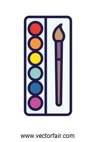 back to school paintbrush color palette artistic draw over white