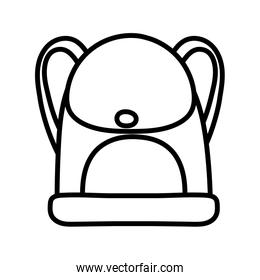back to school education backpack accessory icon thick line