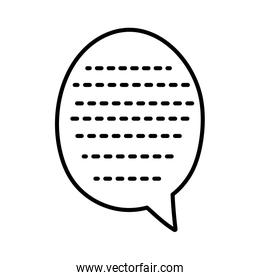 speech bubble pointed lines icon cartoon thick line
