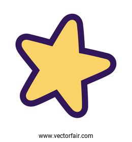 star decoration glowing ornament icon