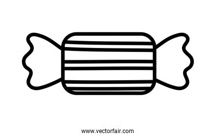 sweet wrapped candy confectionery icon thick line