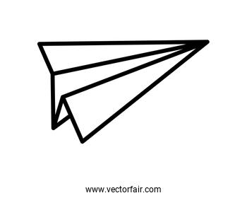 paper plane creativity idea play toy icon thick line