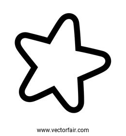 star decoration glowing ornament icon thick line
