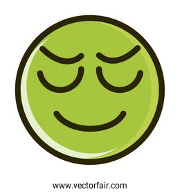 stressed funny smiley emoticon face expression line and fill icon