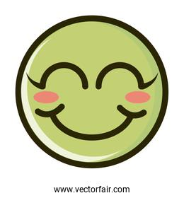 blush funny smiley emoticon face expression line and fill icon