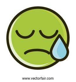 disappointment funny emoticon face expression line and fill icon