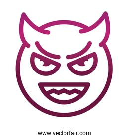imp funny smiley emoticon face expression gradient style icon