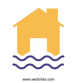 house property flood insurance silhouette style