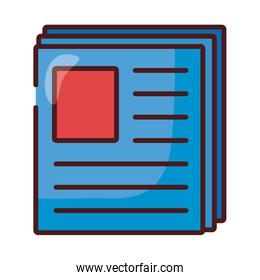 paper documents files line and fill style icon