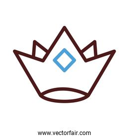 king crown line style icon