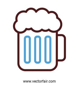 beer jar line style icon