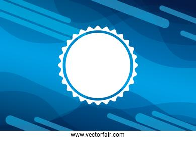 blue vibrant colors background with circle lace